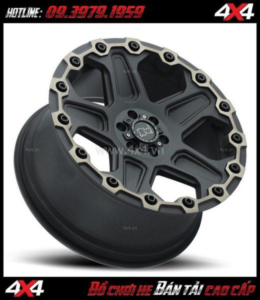 Bức ảnh: Mâm Lazang xe hơi 17 inch Blackrhino Mint Matte Đen, Xám độ xe bán tải, xe 4 bánh
