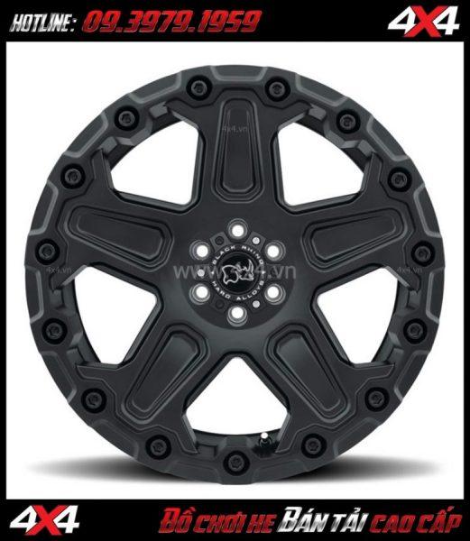 Photo Mâm Lazang oto 17 inch Blackrhino Mint Matte Đen, Xám độ xe bán tải, xe hơi