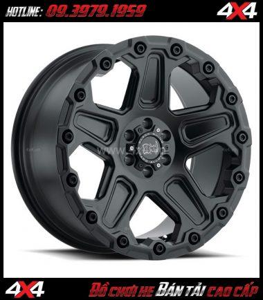 Tấm ảnh: Mâm Lazang xe ô tô 17 inch Blackrhino Mint Matte Đen, Xám độ xe bán tải, ô tô