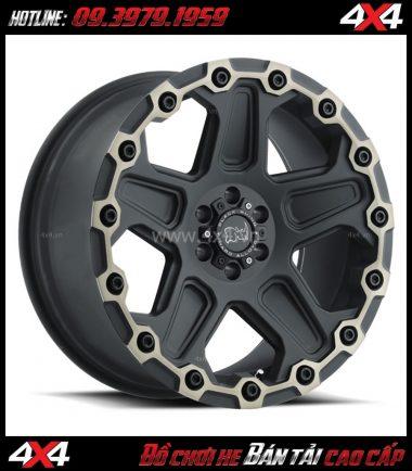 Image Mâm Lazang ô tô 17 inch Blackrhino Mint Matte Đen, Xám độ xe bán tải, xe hơi