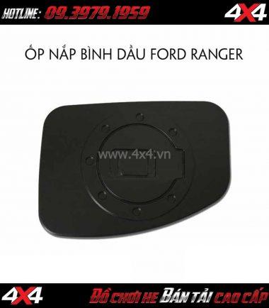 Ốp nắp bình dầu màu đen cho xe bán tải Ford Ranger