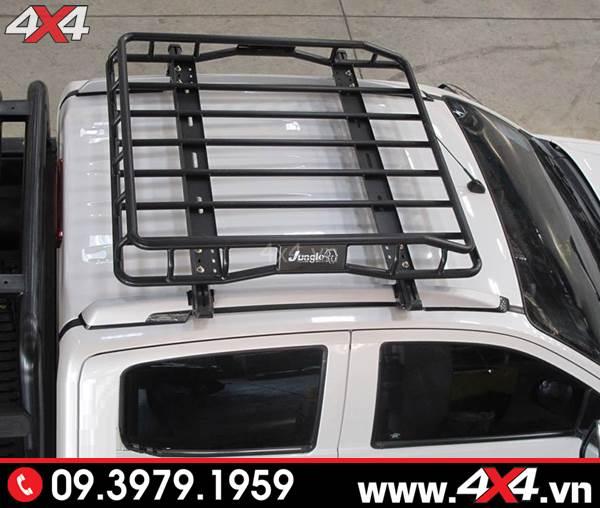 Đồ chơi xe Ford Ranger: Xe bán tải Ford Ranger gắn baga mui Jungle đẹp và tiện dụng