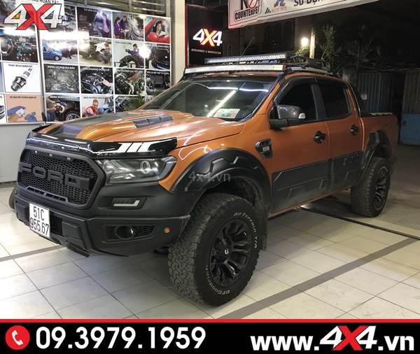 Xe bán tải Ford Ranger lên Body kit Raptor tại 4x4