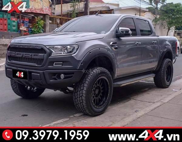 Đồ chơi xe Ford Ranger: Chiếc bán tải Ranger lên Body kit Raptor đẹp và hầm hố