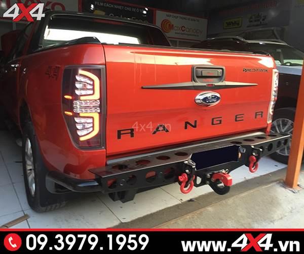 Đồ chơi xe Ford Ranger: Cản sau Yak Thái Lan đẹp, chất và cứng cáp độ xe bán tải Ford Ranger
