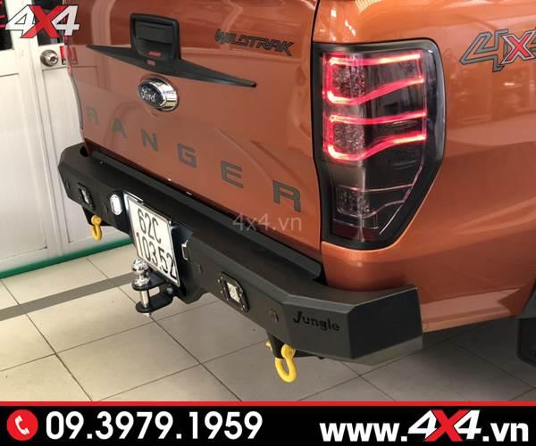Đồ chơi xe Ford Ranger: Xe bán tải Ford Ranger Wildtrak độ cản sau Jungle đẹp, cứng cáp và đẳng cấp
