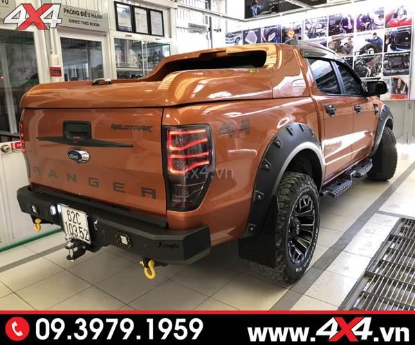 Đồ chơi xe Ford Ranger: Cản sau Jungle đẹp, cứng cáp và chất độ xe Ford Ranger tại HCM