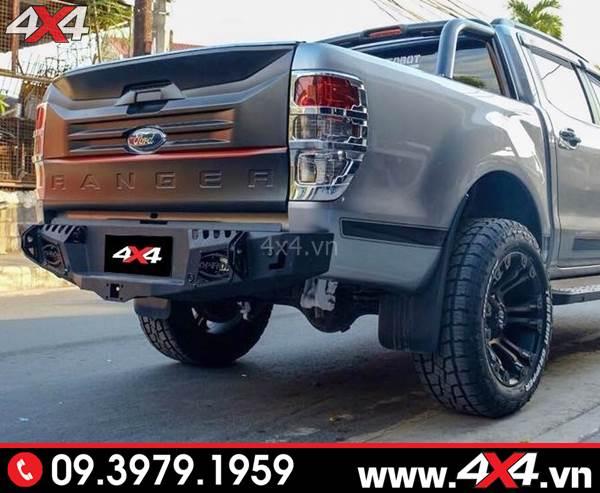 Đồ chơi xe Ford Ranger: Cản sau độ Ford Ranger Option 4wd độ cứng cáp, đẹp và chất