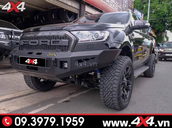 Đồ chơi xe Ford Ranger: Cản trước Ford Ranger CFX độ hầm hố và đẳng cấp cho xe bán tải