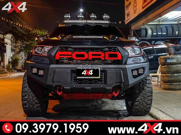 Đồ chơi xe Ford Ranger: Cản trước 4wd đẹp, ngầu và cứng cáp độ xe bán tải Ford Ranger