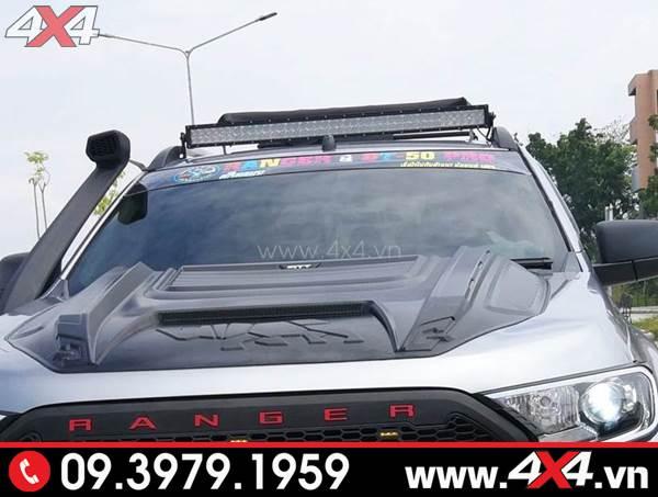 Đồ chơi xe Ford Ranger: Đèn led bar 10D độ đẹp và trợ sáng cho xe bán tải