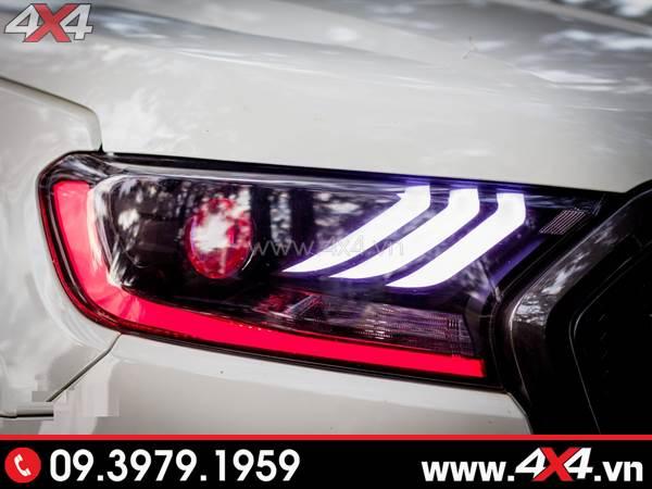 Đồ chơi xe Ford Ranger: Đèn trước Ford Ranger độ đẹp và ngầu với mẫu Ford Mustang