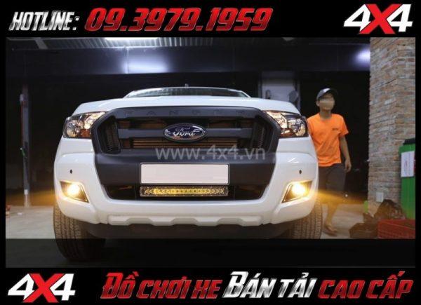 Bức ảnh cách tăng độ sáng cho Ford Ranger 2018 Độ Bi gầm giúp tăng sáng hiệu quả