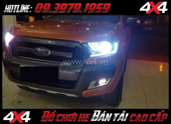 Hình ảnh cách tăng độ sáng cho Ford Ranger 2018 2019: Độ Bi Xenon giúp tăng sáng đèn pha hiệu quả nhất cho xe pickup Ford Ranger 2018 2019