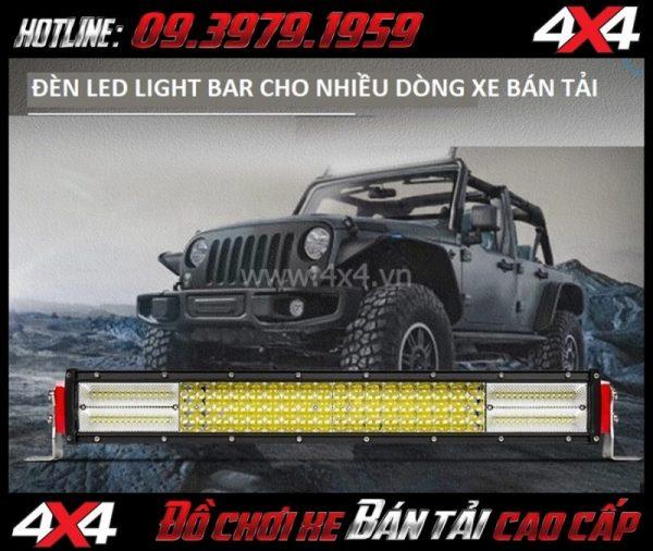 Tấm ảnh tăng sáng cho Ford Ranger 2019 2018 Led bar 12D gắn đẹp và trợ sáng cực tốt cho xe bán tải Ford Ranger