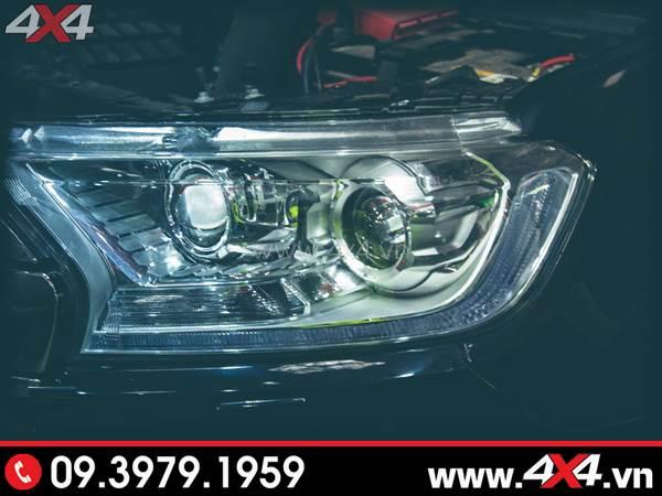 Hình ảnh đồ chơi xe Ford Ranger: Vòng Angel Eyes thay đẹp và nổi bật cho xe off road Ford Ranger 2019 2018 ở Sài Gòn