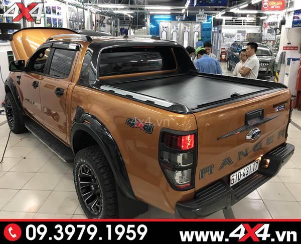 Đồ chơi xe Ford Ranger: Nắp thùng cuộn kết hợp thanh thể thao xe Ford Ranger CarryBoy CB-776, CB-798 thể thao và hầm hố