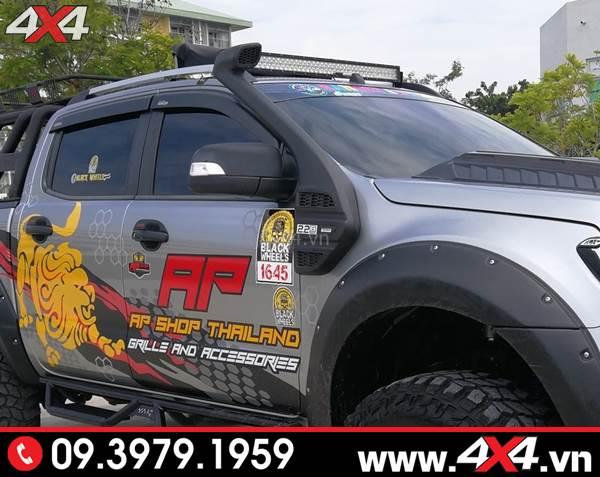 Ống thở Ford Ranger tiện dụng và độ đẹp cho xe bán tải