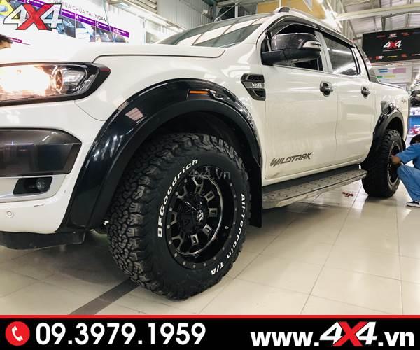 Giá bán ốp cua lốp dành cho xe Ford Ranger hàng nhập Thailand