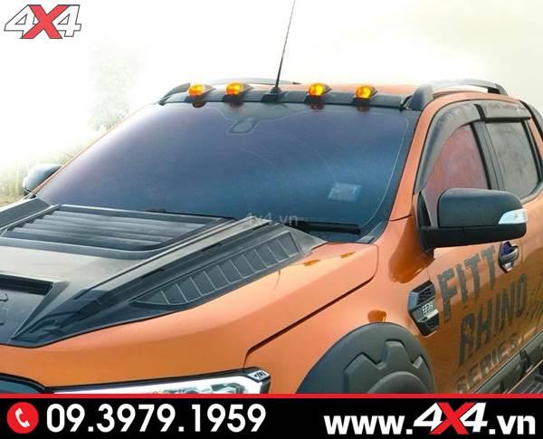 Đồ chơi xe Ford Ranger: Ốp đèn nóc giúp tạo điểm nhấn cho xe bán tải Ford Ranger