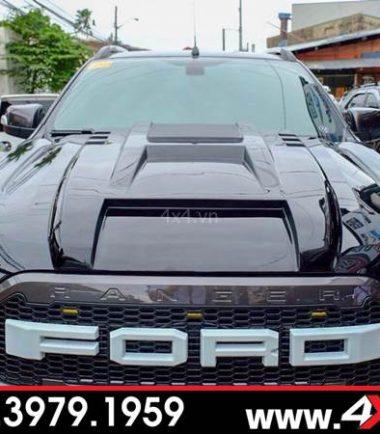 Đồ chơi Ford Ranger: Ốp nắp capo màu đen độ đẹp, ngầu và cứng cáp cho xe bán tải