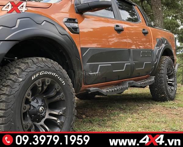 Ốp hông cửa Ford Ranger bản lớn độ hầm hố cho xe bán tải Ford Ranger 2018 2019