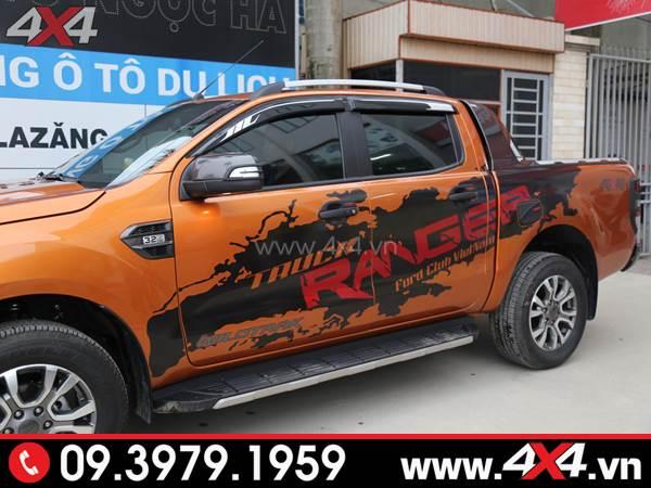 Tem dán xe Ford Ranger - Chiếc Ford Ranger 2018 2019 màu cam lên tem Ranger đẹp và độc đáo
