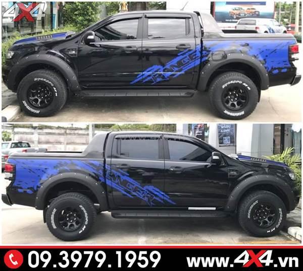 Đồ chơi xe Ford Ranger: Chiếc bán tải đen lên tem xanh đơn giản mà đẹp