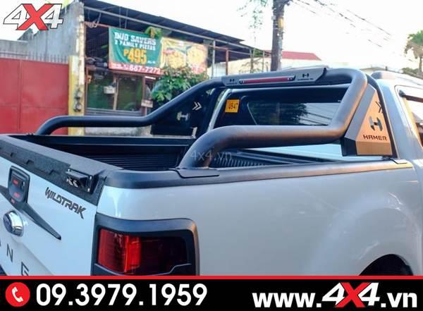 Đồ chơi xe Ford Ranger: Thanh thể thao Hamer độ đẹp và cứng cáp cho xe bán tải