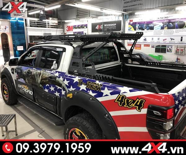 Đồ chơi xe Ford Ranger: Thanh thể thao option 4wd độ cứng cáp và chất cho xe bán tải