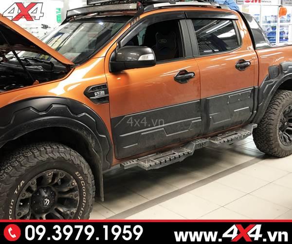 Bệ bước chân Ford Ranger: Bậc bước Open độ tăng thêm vẻ cứng cáp và hầm hố cho xe