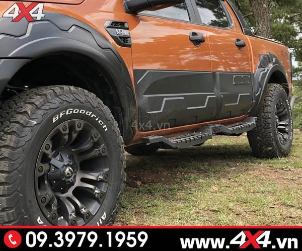 Ốp cua lốp, ốp hông cửa và bệ bước sắt độ ngầu cho Ford Ranger