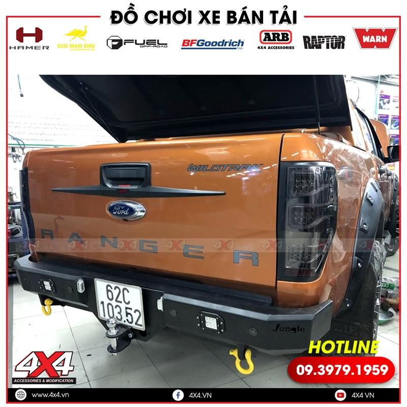Cản sau độ cho Ford Ranger: Cản sau Jungle đẹp, cứng cáp độ cho xe bán tải Ford Ranger