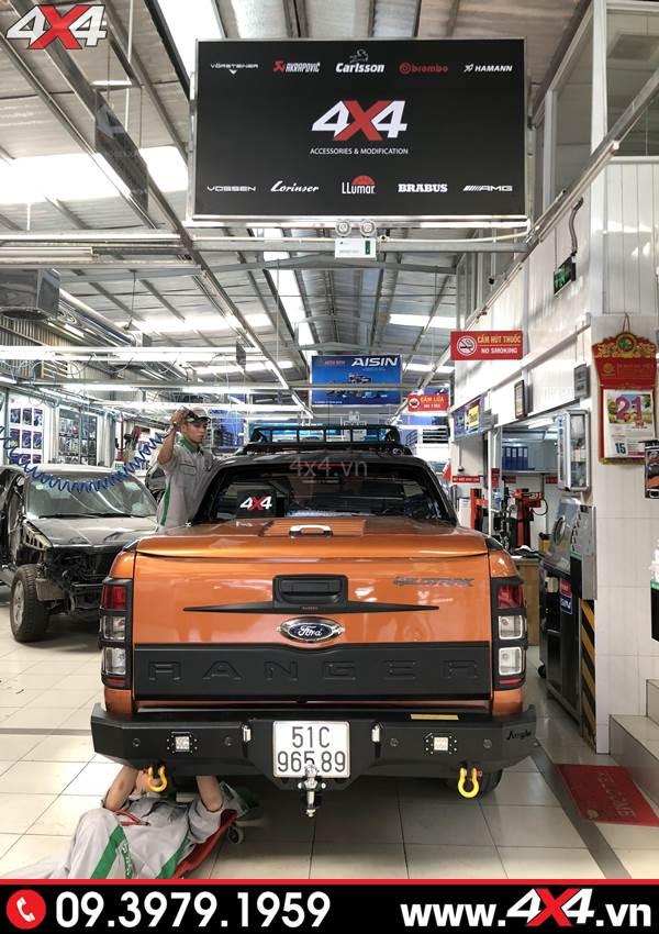 Cản sau xe Ford Ranger độ: Cản Jungle đẹp, hầm hố và cứng cáp dành độ xe bán tải 2018 2019