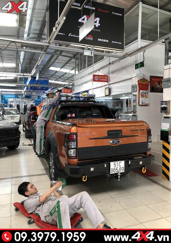 Cản sau Ford Ranger: Cản sau Jungel độ đẹp cho xe Ford Ranger tại 4x4