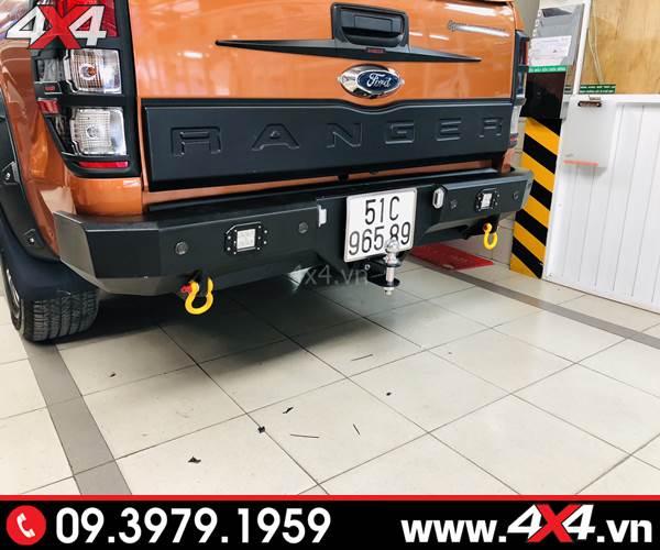 Độ Cản sau độ Ford Ranger: Cản sau Jungle mẫu cản độ đẹp và cứng cáp cho xe bán tải