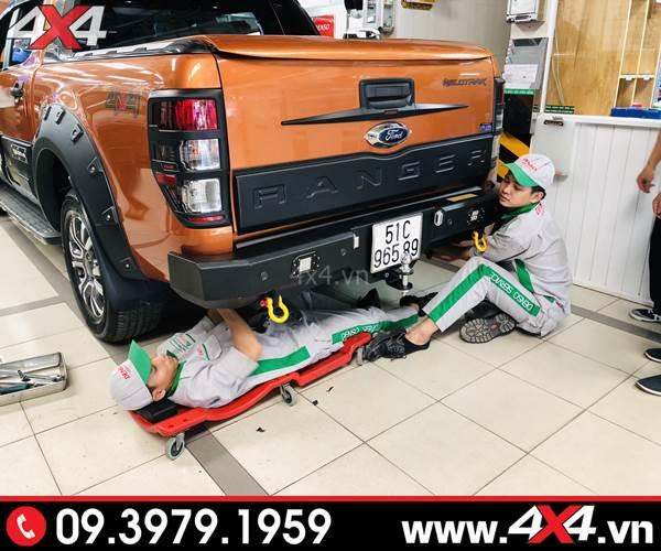 Cản sau độ Ford Ranger: Cản Jungle cứng cáp và hầm hố độ đẹp cho xe bán tải