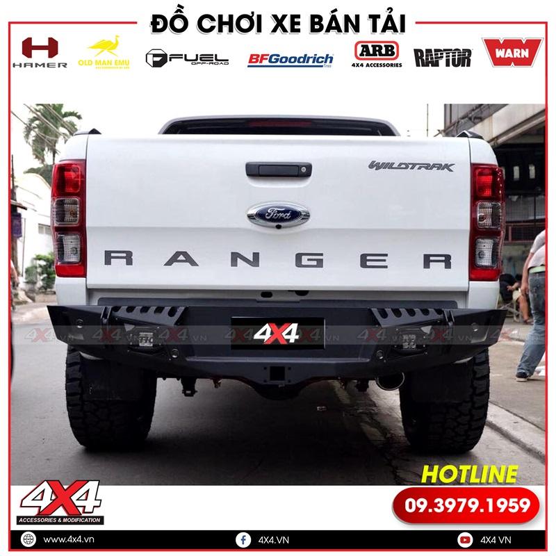 Cản sau xe Ford Ranger: Xe bán tải Ford Ranger độ cản sau Option 4wd đẹp và cứng cáp