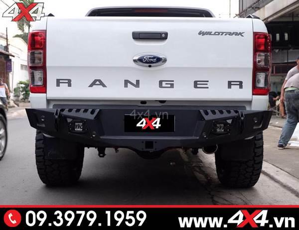 Cản sau Ford Ranger độ: Cản Option 4WD độ đẹp, cứng cáp và chất cho xe bán tải