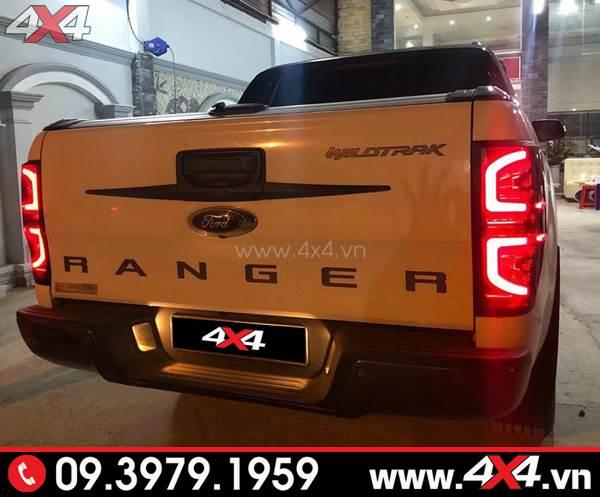 Đèn hậu Ford Ranger kiểu chữ C độ đẹp và ngầu cho xe bán tải 2018 2019