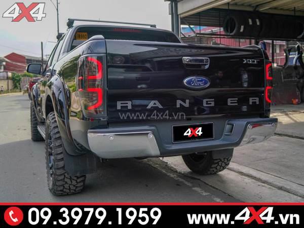 Đèn hậu kiểu chữ C độ đẹp và ngầu cho xe bán tải Ford Ranger