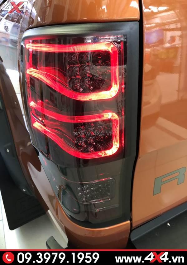 Đèn hậu độ kiểu merc đẹp và sang gắn cho xe bán tải Ford Ranger