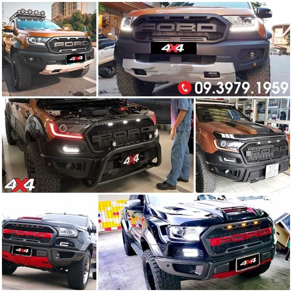 Body Kit Ford Ranger Raptor độ đẹp và hầm hố dành cho XLT, XLS, Wildtrak