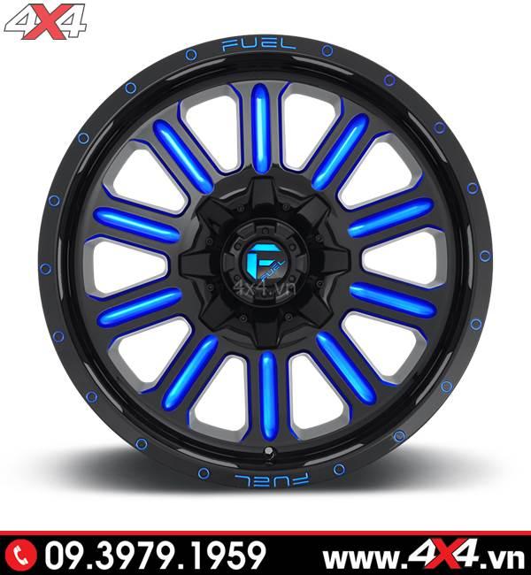 Mâm độ xe Ford Ranger: Mâm Fuel Hardline màu xanh dương đẹp chất và nổi bật