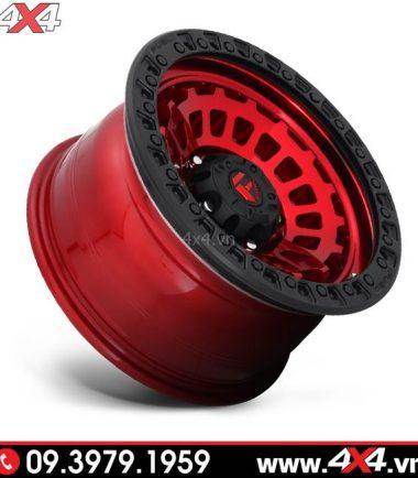 Mâm Ford Ranger độ: Mâm Fuel Zephyr đỏ viền đen độ đẹp, ngầu và chất cho xe bán tải