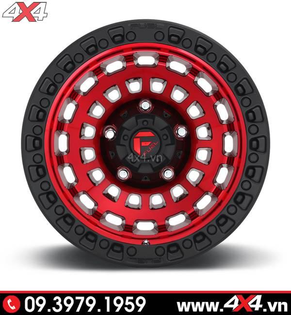Mâm độ cho Ford Ranger: Mâm Fuel Zephyr độ đẹp ngầu với màu đỏ chủ đạo và viền đen