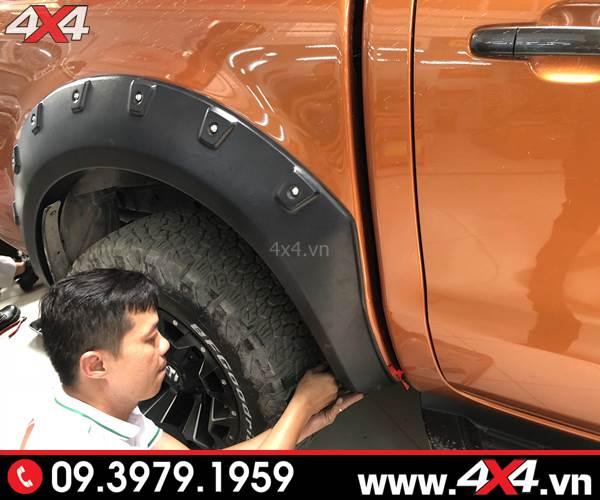 Ốp viền bánh xe Ford Ranger loại có đinh độ đẹp và ngầu