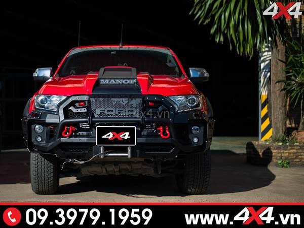 Chiếc bán tải Ford Ranger màu đỏ cực ngầu và hầm hố với nhiều món đồ chơi khủng - Hình 7