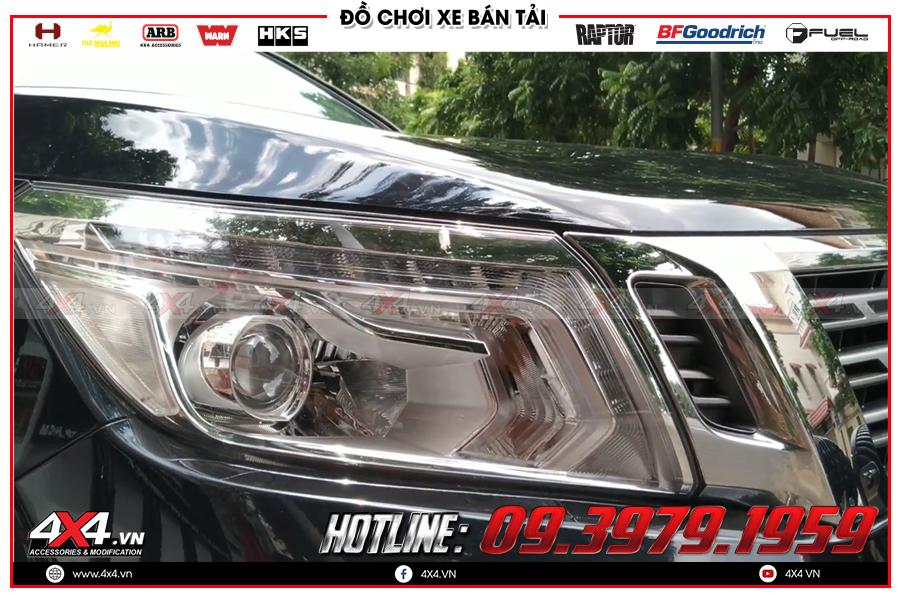 Bi Led tăng sáng xịn sò cho Nissan Navara