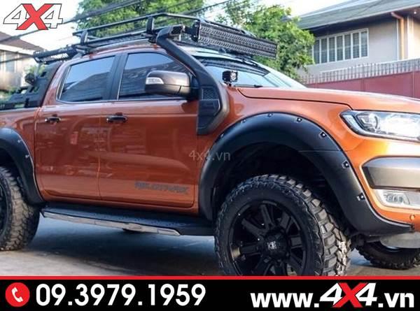 Chiếc bán tải Ford Ranger độ ống thở Ford Ranger cực đẹp, ngầu và cứng cáp